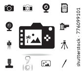 digital photo camera back...