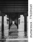 view under the pier and... | Shutterstock . vector #776104165