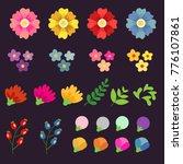 flower set illustration | Shutterstock .eps vector #776107861
