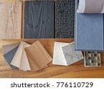 samples of material  wood  ... | Shutterstock . vector #776110729