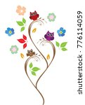 vector illustration of owl tree ... | Shutterstock .eps vector #776114059