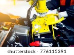 automobile manufacturing plant  ... | Shutterstock . vector #776115391