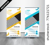 banner roll up design  business ... | Shutterstock .eps vector #776121721
