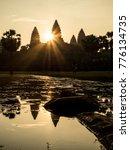 angkor wat silhouette at... | Shutterstock . vector #776134735