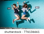 lifestyle portrait of two... | Shutterstock . vector #776136661