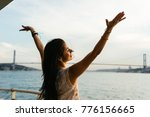 cruise ship vacation woman... | Shutterstock . vector #776156665