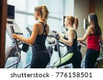 group of people at the gym... | Shutterstock . vector #776158501