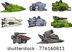a set of various space ship for ...