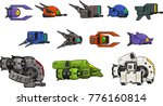 a set of various space ship for ... | Shutterstock .eps vector #776160814