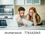 family managing budget ... | Shutterstock . vector #776162065
