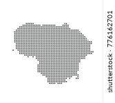 pixel map of lithuania. vector...