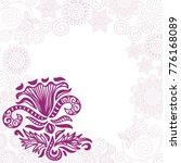 beautiful frame of flowers.... | Shutterstock .eps vector #776168089