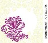 beautiful frame of flowers.... | Shutterstock .eps vector #776168245