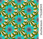 vector seamless pattern with... | Shutterstock .eps vector #776168545