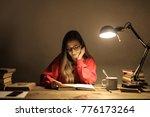 studying at night  | Shutterstock . vector #776173264