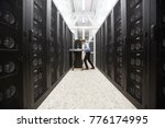 staff of bitcoin storage system ... | Shutterstock . vector #776174995