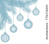 hanging christmas balls with... | Shutterstock .eps vector #776176441