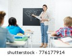 teacher of geography standing... | Shutterstock . vector #776177914
