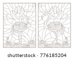 set contour illustrations of... | Shutterstock .eps vector #776185204