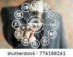 businessman using virtual... | Shutterstock . vector #776188261