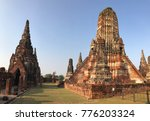 prang in khmer style at the wat ... | Shutterstock . vector #776203324