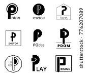 p emblem logo letter style   Shutterstock .eps vector #776207089