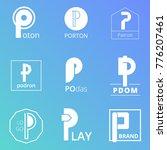 p emblem logo letter style   Shutterstock .eps vector #776207461