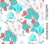 watercolor seamless pattern... | Shutterstock . vector #776218099
