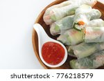 vietnamese food  chicken and... | Shutterstock . vector #776218579