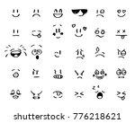 modern outline style emoji...   Shutterstock .eps vector #776218621