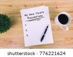 my new year's resolutions... | Shutterstock . vector #776221624