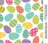 seamless pattern with an easter ... | Shutterstock .eps vector #776222281