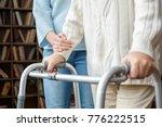 granddaughter taking care of...   Shutterstock . vector #776222515