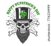 happy saint patrick day. irish... | Shutterstock .eps vector #776224999