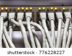 ethernet cables connected to... | Shutterstock . vector #776228227