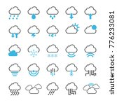cloud icon set | Shutterstock .eps vector #776233081