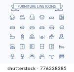 furniture line mini icons... | Shutterstock .eps vector #776238385