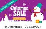christmas sale horizontal... | Shutterstock .eps vector #776239024