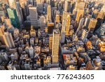 Small photo of Travel USA, New York. Aerial view of Manhattan, NYC. Manhattan from above.
