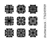 artistic shape ornament vector... | Shutterstock .eps vector #776245909