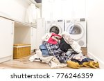 pile of dirty laundry | Shutterstock . vector #776246359