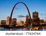 St. Louis At Twilight. Long...