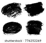 set of grunge paint stripe.... | Shutterstock .eps vector #776252269