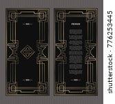 vector card. art deco style.... | Shutterstock .eps vector #776253445
