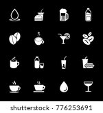 drink icons set | Shutterstock .eps vector #776253691