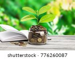 coins growth up to profit... | Shutterstock . vector #776260087