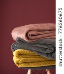folded bed covers  blankets ... | Shutterstock . vector #776260675