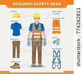 required safety gear. overalls. ... | Shutterstock . vector #776262811