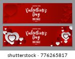 valentine's day love and... | Shutterstock .eps vector #776265817