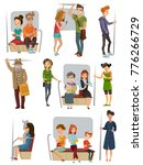 subway people set with men... | Shutterstock . vector #776266729